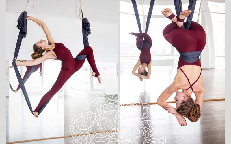 dáng đẹp với aerial yoga